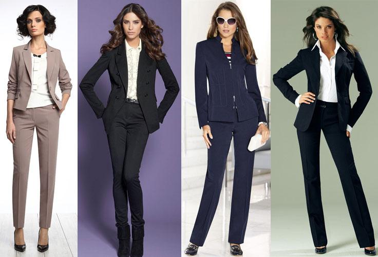 b366ee6e2be Модные женские костюмы - что предлагает мода 2018