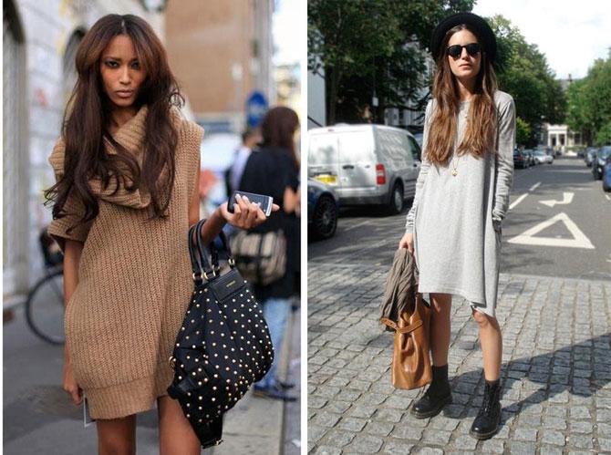 c2c2a19f3e7 Платье-свитер в образе - как выбрать и с чем носить