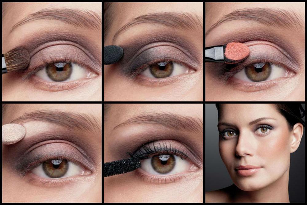 макияж под черное платье дневной