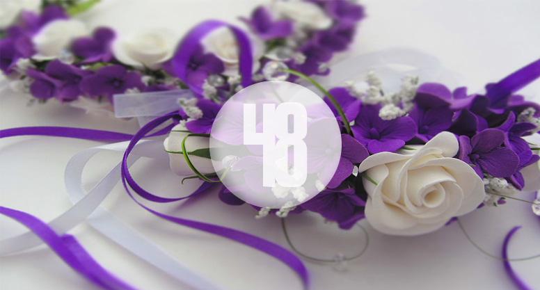 Открытка 48 лет со дня свадьбы