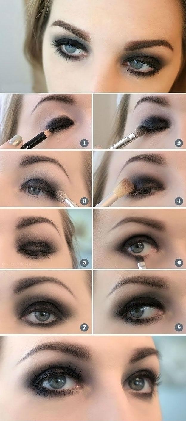 Классический смоки айс для голубых глаз