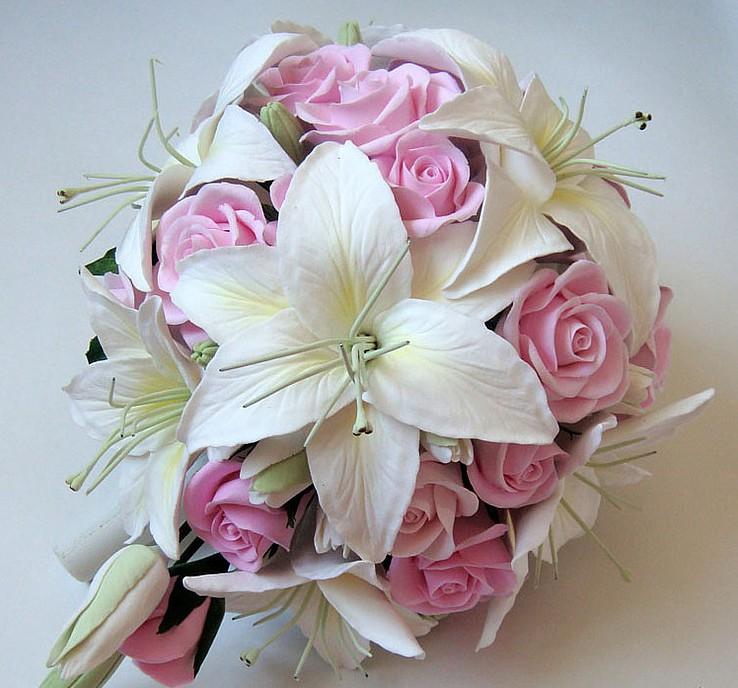 Букет невесты из лилий и роз, детские букеты фото