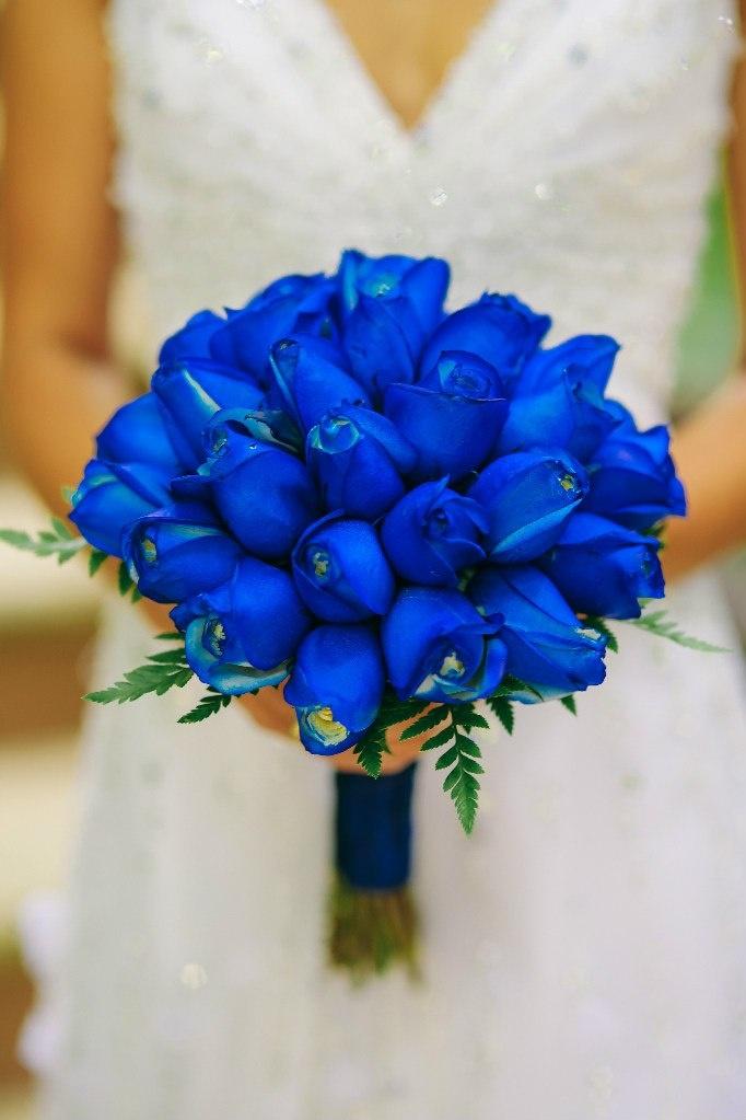 Цветов, свадебный букет из синих цветов фото
