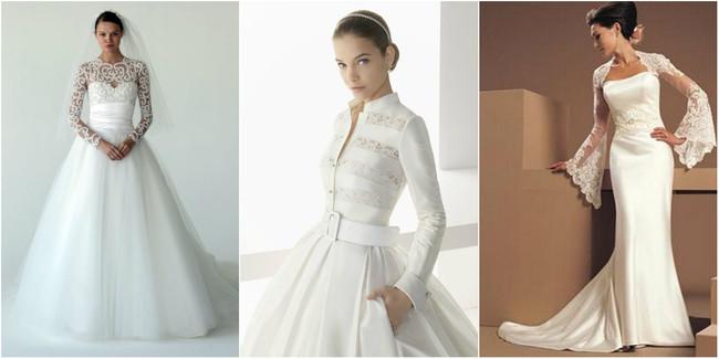 Свадебные платья с руковами – фото