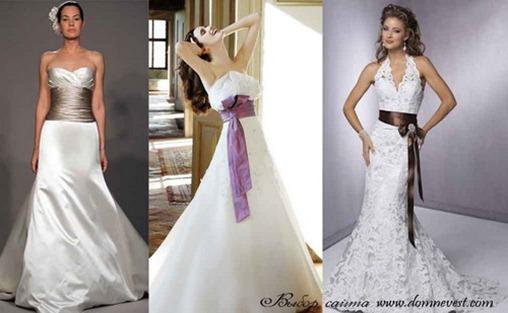 Свадебные платья с лентой на талии фото