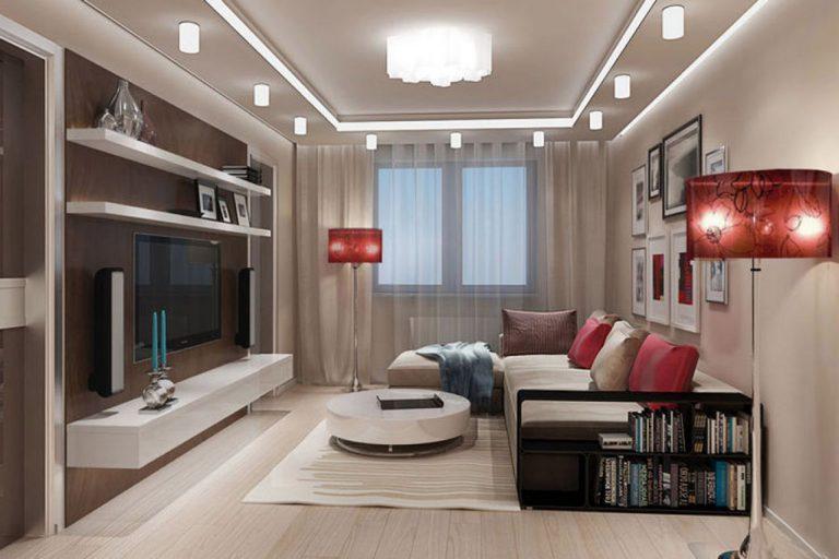Дизайн гостиной комнаты 17 кв. м