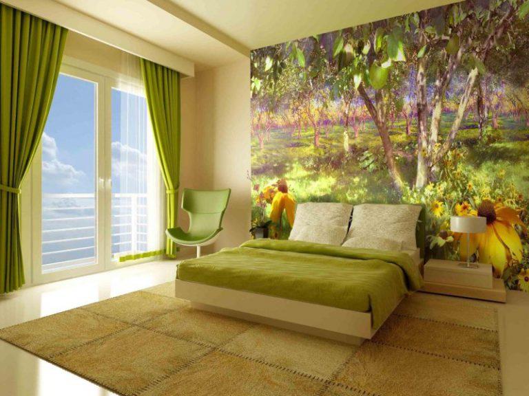 Дизайн спальни с фотообоями – современные идеи