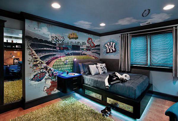 Дизайн спальни для подростка-мальчика