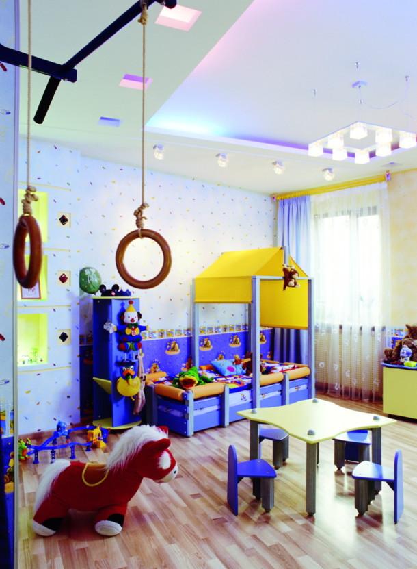 Игровая зона в комнате мальчика