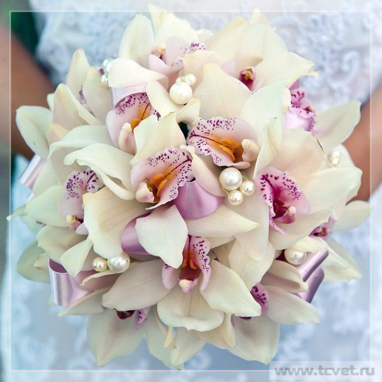 Букет невесты из орхидей (фото)