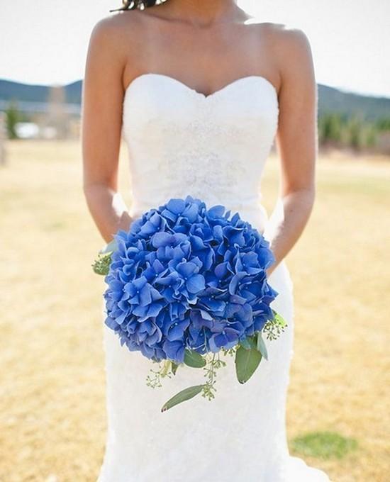 Букет невесты в синем цвете (фото)