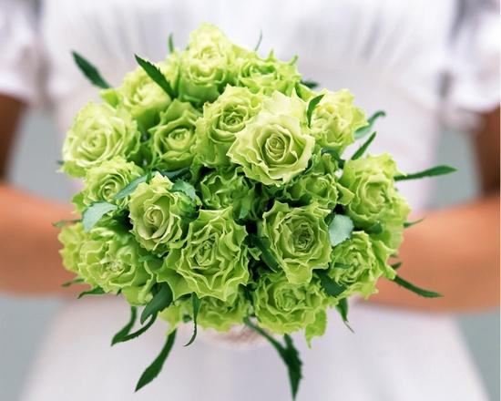 Зеленый свадебный букет невесты – варианты составления (фото)