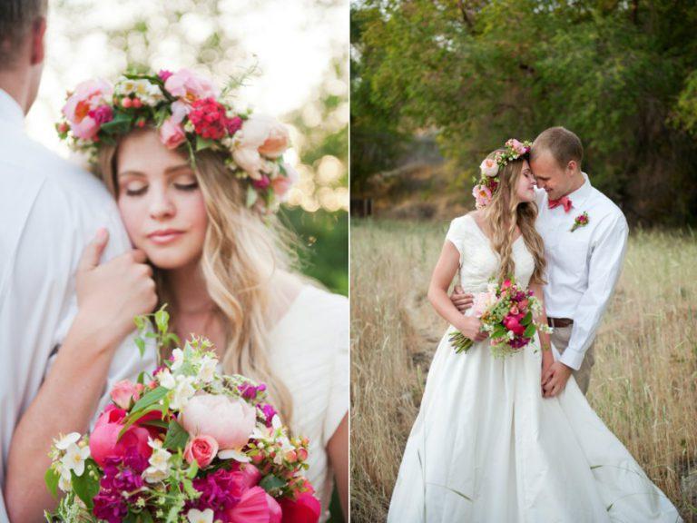 Свадебные венки на голову из живых цветов