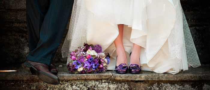Цветная свадебная обувь