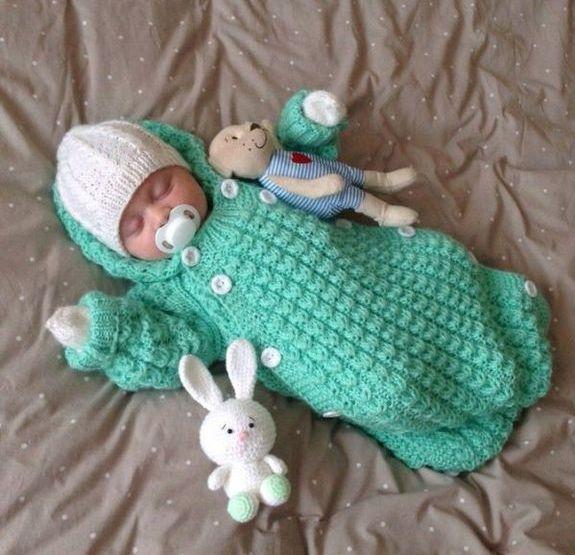 4640item Вязание спицами для новорожденных - описание, схемы, мастер-класс и фото идеи
