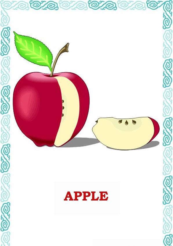Карточки Фрукты и Ягоды на английском языке (Fruit and Berries)