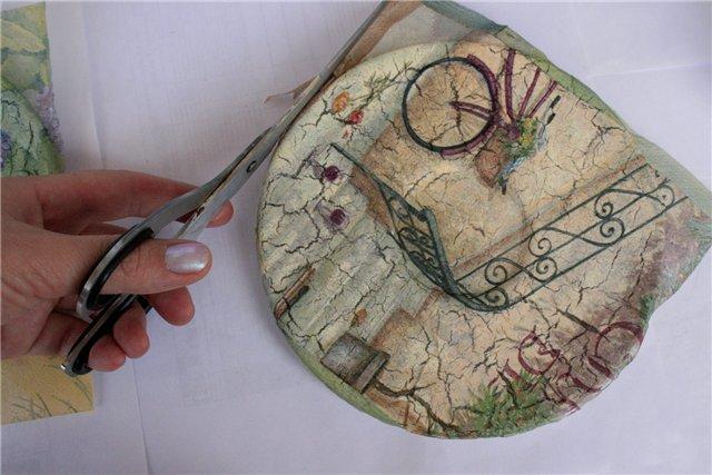 4970item Декупаж тарелки своими руками - мастер-класс с фото